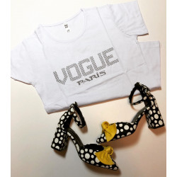 Tricou vogue galbem