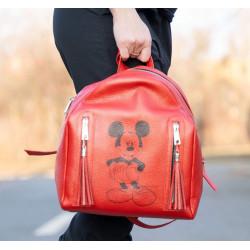 Backpack rosu Mickey