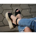 Sandale platforma maron cu barete
