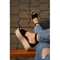 Sandale platforma suede brown