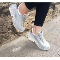 Pantofi sport silver glitter