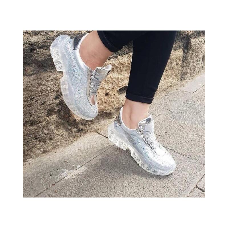 Patofi sport silver glitter
