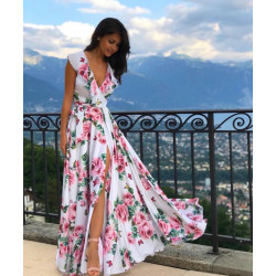 Rochie pink roses