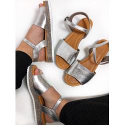 Sandale din piele roze gold