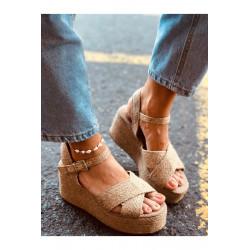 Sandale din piele silver