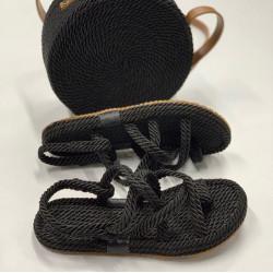 Sandale navy grej