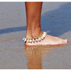 Bratara de picior cu scoici naturale