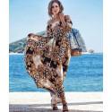 Rochie lunga bardot glam