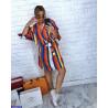 Rochie colorata cu dungi