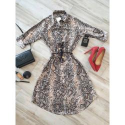 Rochie camasa cu dungi cu cordon
