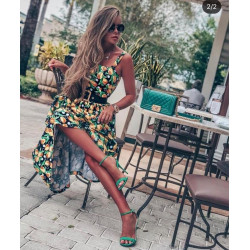 Rochie bardot green glam