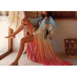 Rochie bardot elegant blue