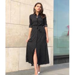 Rochie camasa lunga neagra