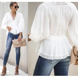 Bluza boho white Andrada