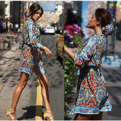 Rochie camasa alba cu catarame