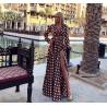 Rochie ciocolata elegance cu buline
