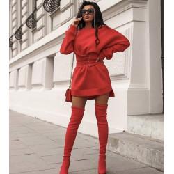 Rochie bluzon rosu