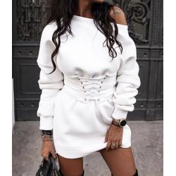Rochie bluzon alb