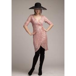 Rochie din paiete roz