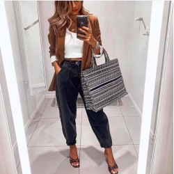Blugi negri fashion