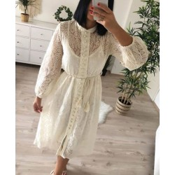 Rochie midi white lace