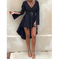 Camasa neagra asimetrica