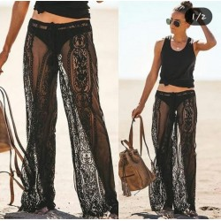 Pantaloni black lace