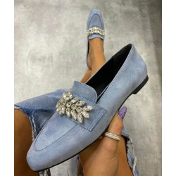 Pantofi bleu cu pietre
