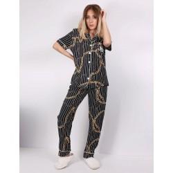Pijama silky fashion print