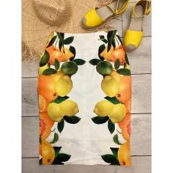 Fusta lemon bodycon