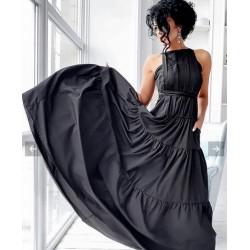 Rochie lunga cu volane
