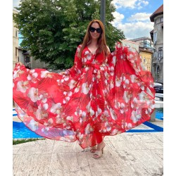 Rochie lunga Red Orchid
