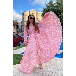 Rochie lunga Delicate Pink