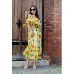 Rochie bardot floarea soarelui