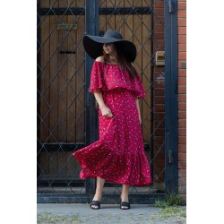 Rochie bardot Lady in Red