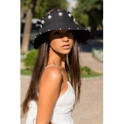 Fashion summer hat negru cu...