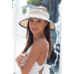 Fashion summer hat alb cu...